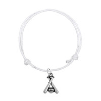 Fashion Korean Wax Cord Bracelet Joint Antique Silver Letter Baseball Mom Bat Charm Bracelet Haute Qualité Bijoux Cadeaux
