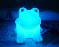 Wholesale Cute Frog Lamps - Magic LED Cute Frog Night Light Novelty Lamp LED Changing Colors Colorful Promotion