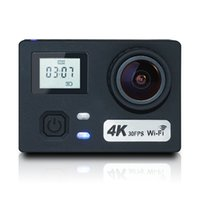 "Wholesale Dual Cmos Sensor - Action Camera 4K WIFI Sports Action Camera Ultra HD Waterproof 16MP DV Camcorder 170° Wide Angle,2"" LCD Dual Screen,NTK96660+34110 Sensor"