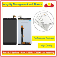 """Wholesale Touch Panel Digitizer Asus - High Quality 5.2"""" For ASUS Zenfone 3 ZC551KL and Zenfone 3 ZC553KL Full Lcd Display Touch Screen Digitizer Sensor Assembly Complate Black"""