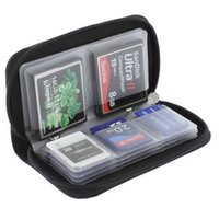 Wholesale Memory Card 3ds - 22 SLOTS Black Memory Card Storage Carrying Case Holder Wallet For CF SD SDHC MS DS 3DS Game