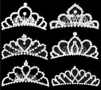 Wholesale Cheap Bling Hair - Wholesale Bling Crystals Bridal Crowns 2016 Cheap Jewelry Wedding Accessories Party Tiaras Headpieces Free Shipping Headband Hair Crown