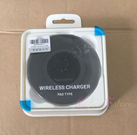 Wholesale Qi Wireless Charging Pad Black - Black White Wireless Qi Charging Pad Samsung Note 5 S6 Edge plus + S7 Edge FAST CHARGER