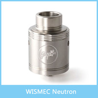 2016 d'origine WISMEC Neutron RDA Réservoir atomiseur 0.5ohm Neutron RDA atomiseur avec Flow Technology Unique Vortex Precise Top Control Airflow