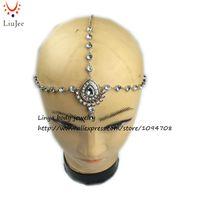 Wholesale Bollywood Wedding - Handmade Head Chain, Matha Patti Indian Bollywood Grecian Bohemian Hair chain, Head Piece Head Jewellery, Wedding,Party HC-303