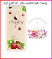 Wholesale Cheap Customized Iphone Cases - Cheap high quality soft tpu case cover for iphone 6 iphone 6 plus with 3D flower print