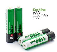 Wholesale Rechargeable Digital Camera Battery - 4pcs pack Soshine Ni-MH AAA 1100mAh Batteries Rechargeable Batteries for digital camera MP3 player toy flashlights etc