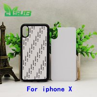 Wholesale Gluing Rubber - 2D Sublimation TPU+pc Rubber case cover for iPhone X cases with plates and glue 200pcs