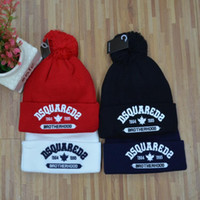 Wholesale Red Knit Hat Girls - wholesale 100 design embroidery winter hat for women men hat knitted winter Skull Caps brand Beanie Skull Caps Boy girl