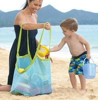 Wholesale Eco Mesh Bag - New Arrive Applied Enduring Children sand away beach mesh bag Children Beach Toys Clothes Towel Bag baby toy collection nappy
