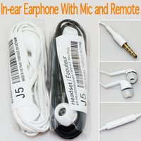 Wholesale Earphone Headset Galaxy - Earphone In-Ear Headset Stereo with Mic and Remote Headphone for Samsung Galaxy S7 S6 S5 S4 100pcs up