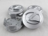 Wholesale Wholesale Hub Covers - 4pcs 63mm Chrome Logo Wheel Center Hub Caps covers for Lexus IS200 IS300 RX300 RX330 RX350 RX270 ES350 LS460L GS IS460