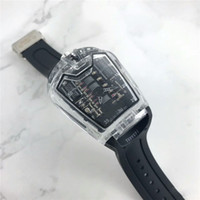 Wholesale high end digital watches - New Hot Top Luxury Brand quartz Watches rubber Watch strap Men's Automatic High-end Business Fashion Hyaline shell wrist Watches Function