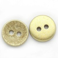 Wholesale Wholesale Gold Sew Buttons - 2015 NEW 100PCs Acrylic Buttons Sewing Scrapbooking 2 Holes Round Matte-Gold 12.5mmDia. HOT sale New Arrival M66907