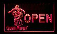 luz de barra de neón capitán morgan al por mayor-LS167-r ABIERTO Captain Morgan Beer Bar Neon Light Sign.jpg