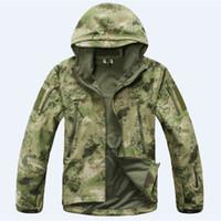 Wholesale Tad V Coats - High Quality Camping Jackets Softshell Hot TAD V 4.0 Windproof Men Outdoor Hunting Camping Waterproof Coats Jacket Army Outdoor Coat