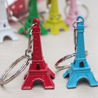lembrança do chaveiro de paris venda por atacado-Amantes casal chaveiro anel de presente de publicidade chaveiro Retro Torre Eiffel chaveiro torre França frança lembrança paris keyring chaveiro corte