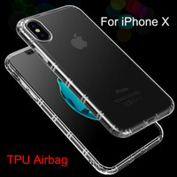 Wholesale Fit Slip - Hot Sale Shockproof Phone Case For iPhone X Full Protective Soft Kickstand Cover Shell Slip iPhoneX Gasbag Cases TPU Airbag