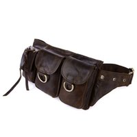J.M.D 2016 New Vintage Real Leather Design Fanny Belt Bag Purse Waist Pack Outdoor Low Price Freeshipping 3014