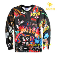 Wholesale Womens Size Cloths - 2016 new fashion halloween cloth china silk cotton blend 3D print hoodie womens mens sweatshirts 4 sizes 1991inc bargain free shipping