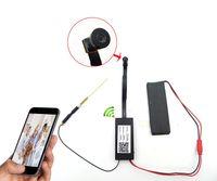 Wholesale Ccd Video Camera Module - HD 1080p Mini DV Spy IP Camera WiFi DIY Camera Module Wireless Hidden DVR Video Recorder 110 Degree 22cm Lens Cable Support APP Remote View