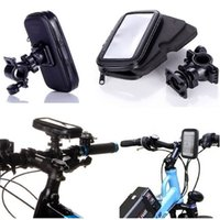 Universal Waterproof Bicycle Bike Handlebar Mount Holder Bracket Bag Case pour Samsung S6 S7 Edge Mega 6.3 iPhone 6 6S Plus HTC Sony ZTE
