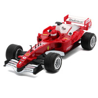 Wholesale Formula Car Model - Hot sales Collectible 17cm length diecast Formula 1 model cars, kids toys with pull back function sound light as souvenir gift