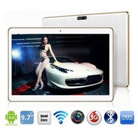 9,7 dual-kamera-tablette großhandel-Freier Versand-DHL 9,7 Zoll Tablette mtk6592 Octa-Kern 3G GPS Android 5.1 4 GB / 32 GB Doppelkamera 5.0MP 1280 * 800 IPS-Schirm