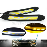Wholesale drl lights audi - 2 In ONE Car Front Turn Signals And DRL Daytime Running Lights external lamp car styling light source parking auto fog bar lamp