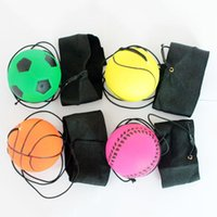 Wholesale Fun Exercises - Wholesale- 2016 New 60mm Bouncy Wrist Band Ball Elastic Rubber Ball Toy For Wrist Exercise Board Game Party Fun Random Color