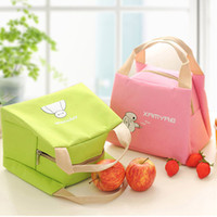 Wholesale Small Foil Bags - Wholesale-Handbag With Lunch Bag Fresh Thickened Insulation Boxes Small Bottle Package Foil Insulation picnic Bag marmita Free Shipping
