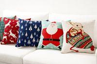 Wholesale black dog cover for sale – best Decorative Cartoon Cat Dog Deer Christmas Gift Pillow Cushion Cover Pillow Case Home Decorative Pillow Thick Linen Pillowcase Sofa Cushion