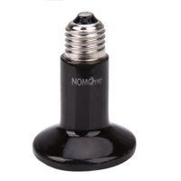 Wholesale Infrared Heat Emitter Bulb - Wholesale- Black E27 25W 50W 75W 100W Mini Infrared Ceramic Emitter Heat Light Lamp Bulb For Reptile Pet Brooder 220V