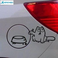 Wholesale Cat Laptop Decal - Hungry Simon's Cat Bowl JDM Decal Funny Gas Fuel Tank Cap Cover Vinyl Sticker For Car Truck SUV Window Bumper Wall Glass Laptop