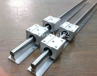 Rails Linéaires De 12 Mm Pas Cher-2 x SBR12 l = 1200mm GUIDE LINEAR RAIL SUPPORTÉ 12MM GUIDE ARBRE ROD + 4pcs SBR12UU Bearing Blocks