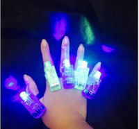 luz da lâmpada do dedo venda por atacado-Magia luzes do dedo brilhante led laser anel de dedo luz da lâmpada feixes de tocha para a festa ktv bar rave luz brilho laser anel de dedo luz