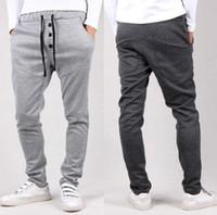Wholesale Mens Casual Joggers Jogging Pants - Mens Fashion Joggers Pants 2018 Brand Trousers Men Sport Pants Casual Solid Pants Jogging Sweatpants Jogger 3 Colors XXL