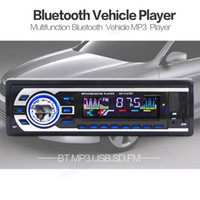Wholesale Vehicle Amplifier - Universal Vehicle Car Bluetooth Stereo Audio MP3 Player Support Hand Free Fhone Calls USB   SD   FM Card Reader CAU_00K