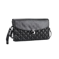 Wholesale Wholesale Cheap Evening Dresses - Women Casual Clutch Bag Lady Double Zipper Wallets PU Dress Hasp Fashion Diamond Lattice Cheap Phone Bag Evening Bag VKP1553