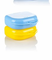 zahnböden großhandel-Mundschutz Fall Dental Kieferorthopädische Retainer Box Fall Kunststoff Prothese Tray Box Zähne Container Prothese Box