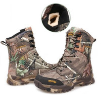 Wholesale Realtree Ap - Wholesale- Hot ! Winter plus velvet Realtree AP camouflage tactical boots outdoor desert camo jungle Shoes hunting waterproof snow boots