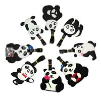 Wholesale Lovely Cartoon Bear Panda Luggage Tag Soft PVC Name Tags for Suitcase Baggage Cute Travel Accessories