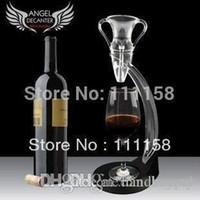 conjuntos de regalo de vino envío gratis al por mayor-¡Precio de fábrica! 16 Sets Wine Aerator Magic Decanter Gift Set, Portátil Angel Wine Bottle Decanter Glass Tower UPS Envío Gratis 0419xx