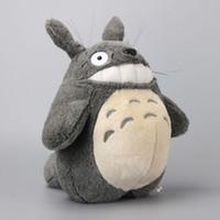 lindo peluche totoro al por mayor-2 Unids / set My Neightor Totoro Cat Bus Muñecas Suave Anime de Peluche Juguetes Lindos Niños Regalo de Cumpleaños 30-36Cm