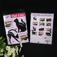 Wholesale Fast Use - Newest Cat Line Cat Eyeliner Stencil Cat Line Matte PVC Material Repeatable Use Eyeliner Template Plate DHL free shipping