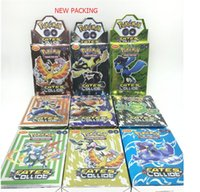 Wholesale Game Sets - 25Cards Set POKE GO Trading Card Games Newest English Edition Anime Monsters Cards board games Card Toys Children Kids cards Free DHL