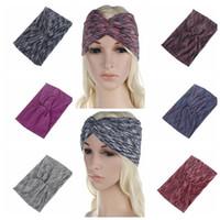 Wholesale Cross Wrap Hair - Bohemian Women Headband Hair Bands Wide Head Wrap Hair Accessories Cross Headband Hair Band Bandana 6 color KKA2897