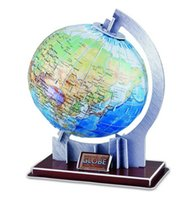 Wholesale 3d puzzle model JIGSAW PUZZLE EARTH GLOBE Child Children LEANING Kid gift ARCHITECTURE DIY D PUZZLE TOY