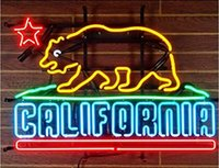 Wholesale Bear Sign - New California Bear Handicrafted Real Glass Tube Neon Light Beer Lager Bar Pub Sign Optional size