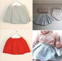 Wholesale Wool Childrens Clothes - Girls Baby Childrens Skirts Clothing Cotton Wool Autumn Winter Sweaters Mini Skirt Girl Kids Clothes Skirts for Girls Boutique Clothing